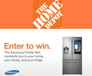 Win A Free Samsung Fridge from The Home Depot