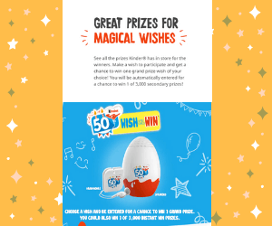Win a Vacation & More from Kinder Surprise!