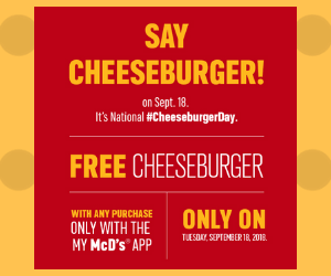 Free McDonald's Cheeseburger with Purchase