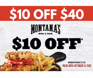 $10 off at Montana's