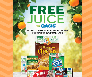 Free Oasis Juice with Purchase