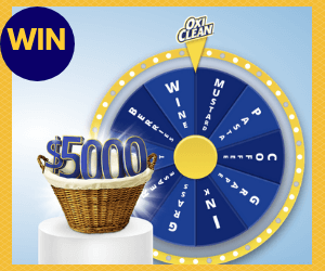 Win $5,000 & More from Oxiclean!