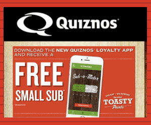 Free Quiznos Small Sub With Purchase