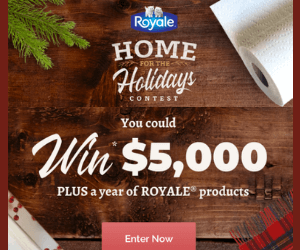 Win $5,000 Cash & $1 Off Royale Coupon