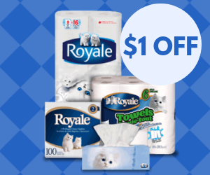 Save $1 on Royale Products