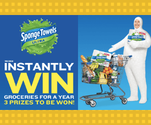 Win Free Groceries For a Year from Sponge Towels