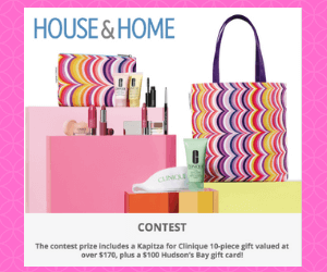 Win Clinique Prize Pack & $100 Hudson's Bay Gift Card