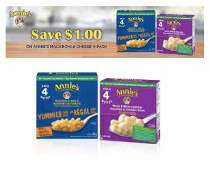 $1 Off Annie's Macaroni and Cheese Coupon