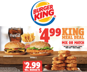 Burger King Meal Deals