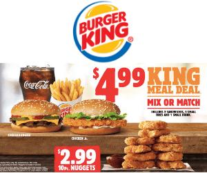 Burger King Meal Deals