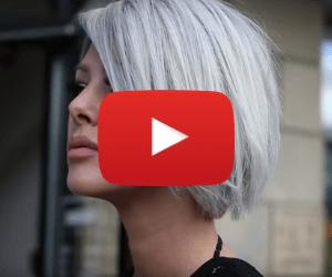 Modern Grey Hair Style