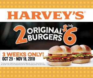 Harvey's 2 for $6 Deal