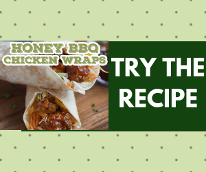 Honey BBQ Chicken Wraps!