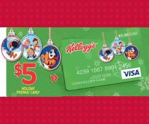Free $5 Prepaid VISA From Kellogg's