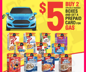 Free $5 Gas Card From Kellogg's
