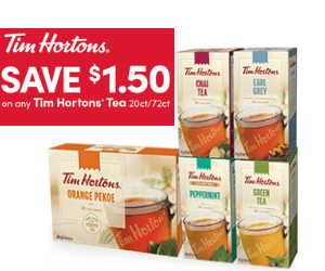 Save $1.50 On Tim Hortons Tea