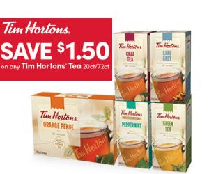 Save $1.50 On Tim Hortons Tea
