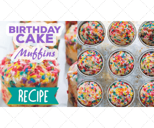 Birthday Cake Sprinkle Muffins