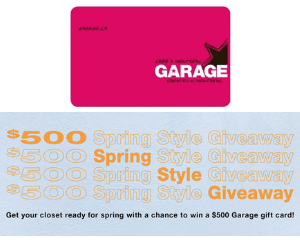 Win a Free $500 Garage Gift Card