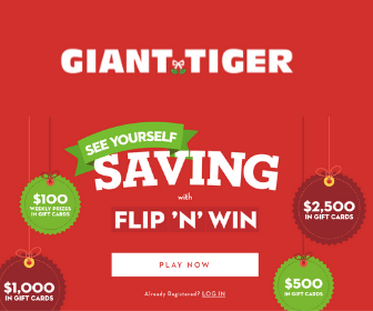 Win a Free $2,500 Giant Tiger Gift Card