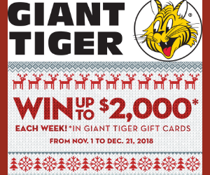 Win a Free $2,000 Giant Tiger Gift Card