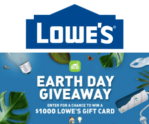 Win a Free $1,000 Lowe's Gift Card