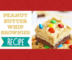 Sweet Peanut Butter Whip Brownies