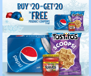 $20 In Free PepsiCo Product Coupons