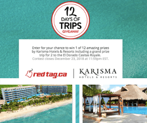 Redtag 12 Days of Trips Giveaways