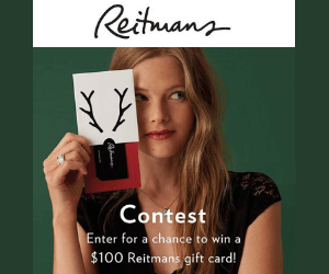 Win a Free $100 Reitmans Gift Card