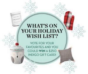 Win a $250 Indigo Gift Card