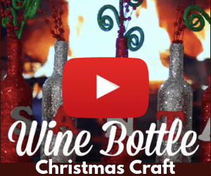 Wine Bottle Christmas Craft