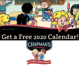 Free Chapman's 2020 Calendar