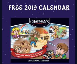 Free Chapman's 2019 Calendar