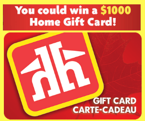 Win a Free $1,000 Home Hardware Gift Card