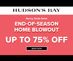 75% Off at Hudson's Bay