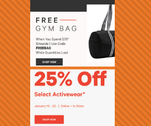 25% Off at Joe Fresh & Freebie