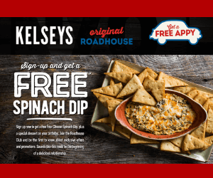 Free Appetizer at Kelsey's