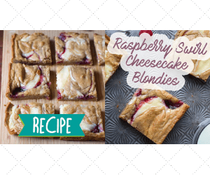 Raspberry Cheesecake Blondies