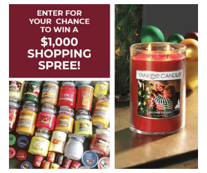 Win a Yankee Candle Shopping Spree & Coupon