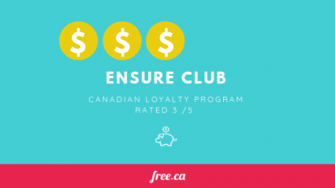 Ensure Club Rated 3:5 by Free.ca for canadian loyalty programs