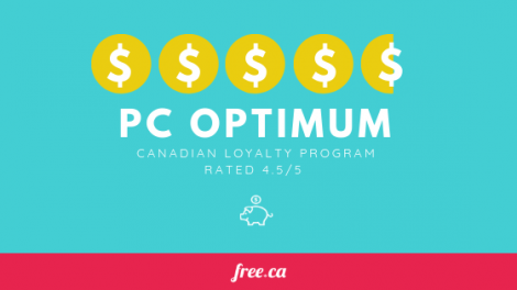 PC Optimum offers and points loyalty program ranked 4.5 out of 5