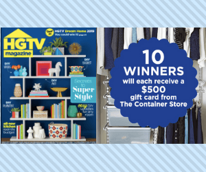 Free HGTV Magazine + Win A $500 Gift Card