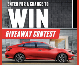 Win a Free Honda Civic Sedan