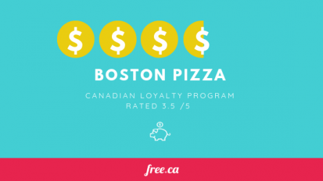 Boston Pizza rewards rated by Free.ca Canadian Loyalty programs