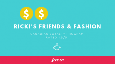 Ricki's loyalty program in Canada rated by Free.ca
