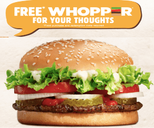 Free Burger King Sandwich