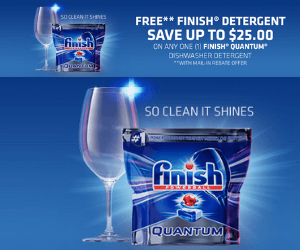 Free Finish Dishwasher Detergent