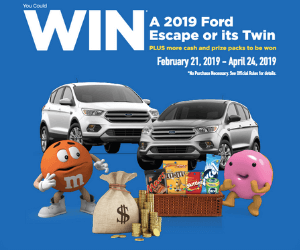 Win a Free Ford Escape & More From M&M's!