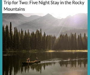 Win a Free Trip to the Rockies from Westjet!